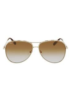 Salvatore Ferragamo 62mm Gradient Oversize Aviator Sunglasses