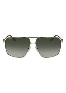 Salvatore Ferragamo 62mm Oversize Gradient Navigator Sunglasses