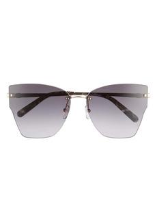 Salvatore Ferragamo 62mm Oversize Rimless Cat Eye Sunglasses