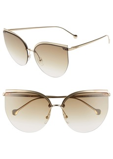 Salvatore Ferragamo 64mm Oversize Rimless Cat Eye Sunglasses