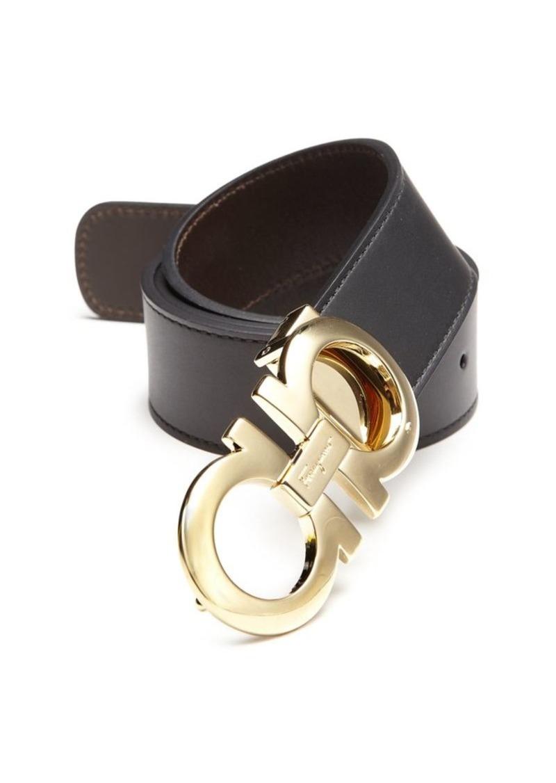 Ferragamo Adjustable & Reversible Gancini Buckle Belt