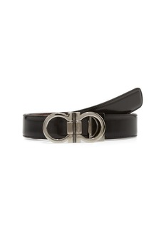 Salvatore Ferragamo Adjustable & Reversible Double Gancio Leather Belt