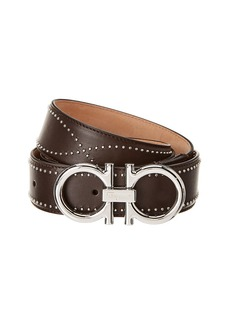 Salvatore Ferragamo Adjustable Fixed Gancio Leather Belt