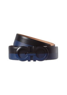 Salvatore Ferragamo Adjustable Gancini Leather Belt