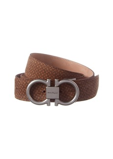 Salvatore Ferragamo Adjustable Gancini Suede Belt