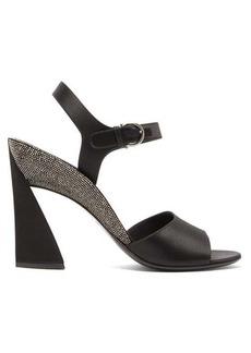 Salvatore Ferragamo Aede crystal-embellished satin sandals
