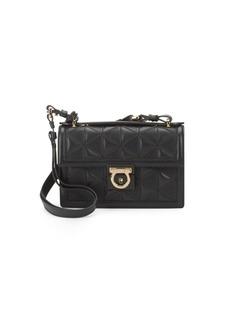 Ferragamo Aileen Textured Leather Shoulder Bag