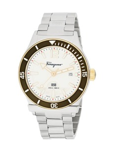 Ferragamo Analog Display & Stainless Steel Bracelet Watch