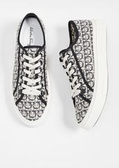 Salvatore Ferragamo Anson Gancio Print Low Top Sneakers