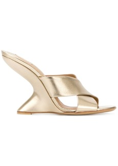 Salvatore Ferragamo Arsina wedges - Metallic