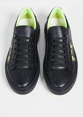 Salvatore Ferragamo Arwin Neon Gancio Sneakers