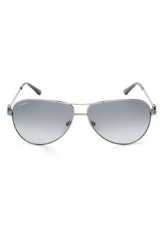 Salvatore Ferragamo Men's Aviator Sunglasses, 62mm
