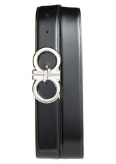 Salvatore Ferragamo Basics Reversible Leather Belt