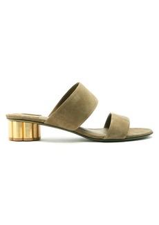 Salvatore Ferragamo Belluno cloumn-heel suede sandals