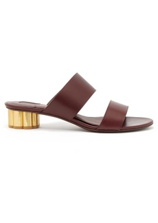 Salvatore Ferragamo Belluno column-heel leather sandals