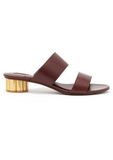 Salvatore Ferragamo Belluno column-heel leather sandals