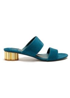 Salvatore Ferragamo Belluno column-heel suede sandals
