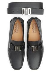 Salvatore Ferragamo Belt & Driving Shoe