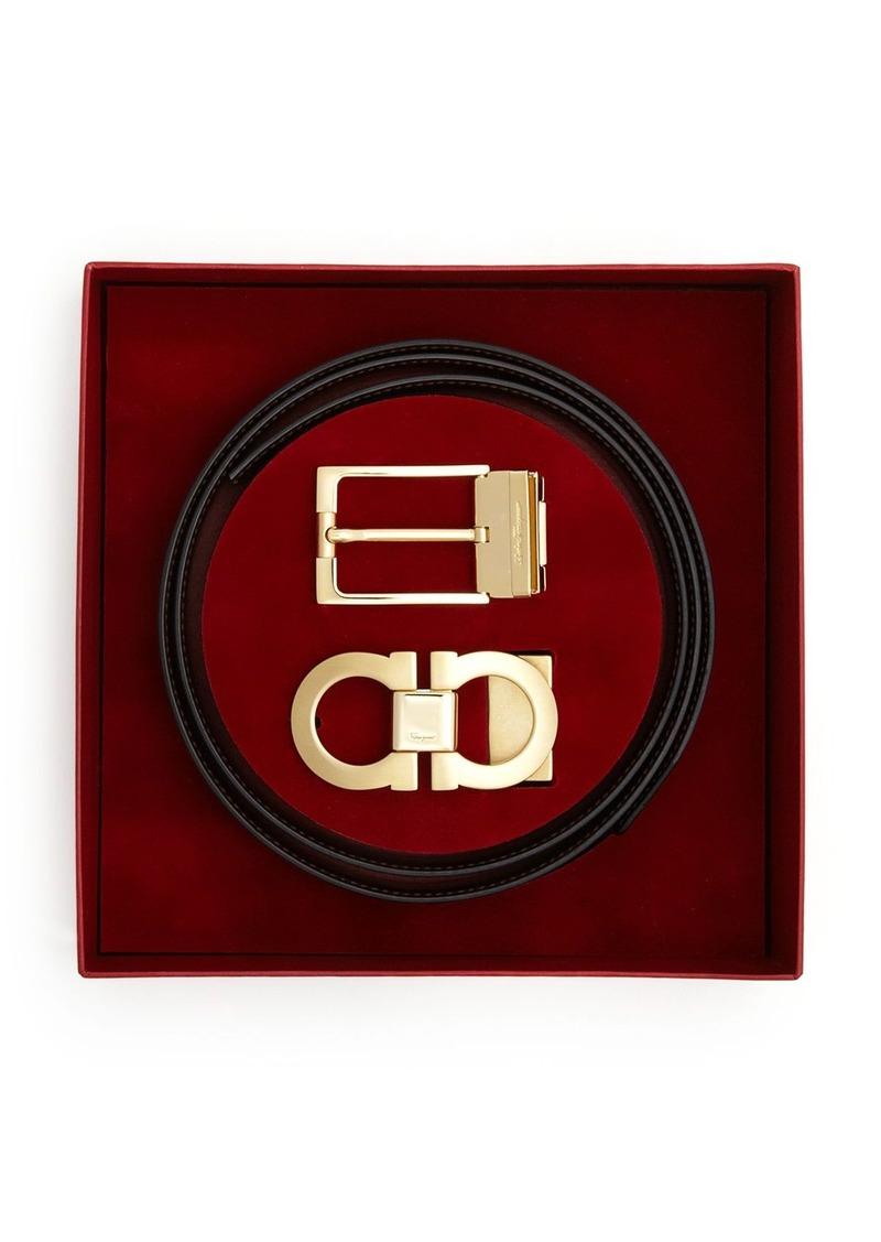 6cdd73dfa06d Ferragamo Salvatore Ferragamo Adjustable Belt Box Set with Gold ...