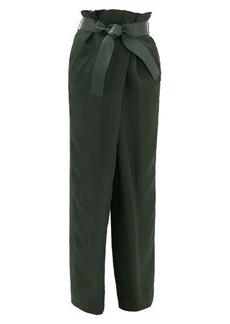 Salvatore Ferragamo Belted wide-leg satin-twill trousers