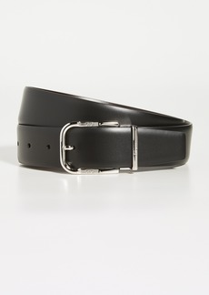 Salvatore Ferragamo Beveled Gancini Buckle Reversible Belt
