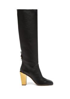 Salvatore Ferragamo Blavy over-the-knee leather boots