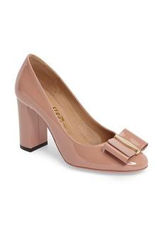 Salvatore Ferragamo Block Heel Bow Pump (Women)