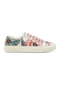 Salvatore Ferragamo Borg Floral Print Sneakers