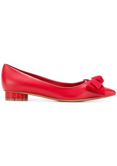 Salvatore Ferragamo bow-embellished pumps - Red