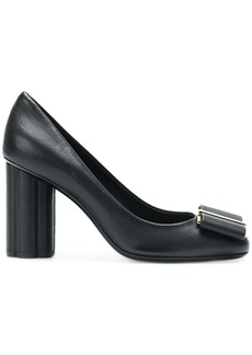 Salvatore Ferragamo bow front high-heeled pumps - Black