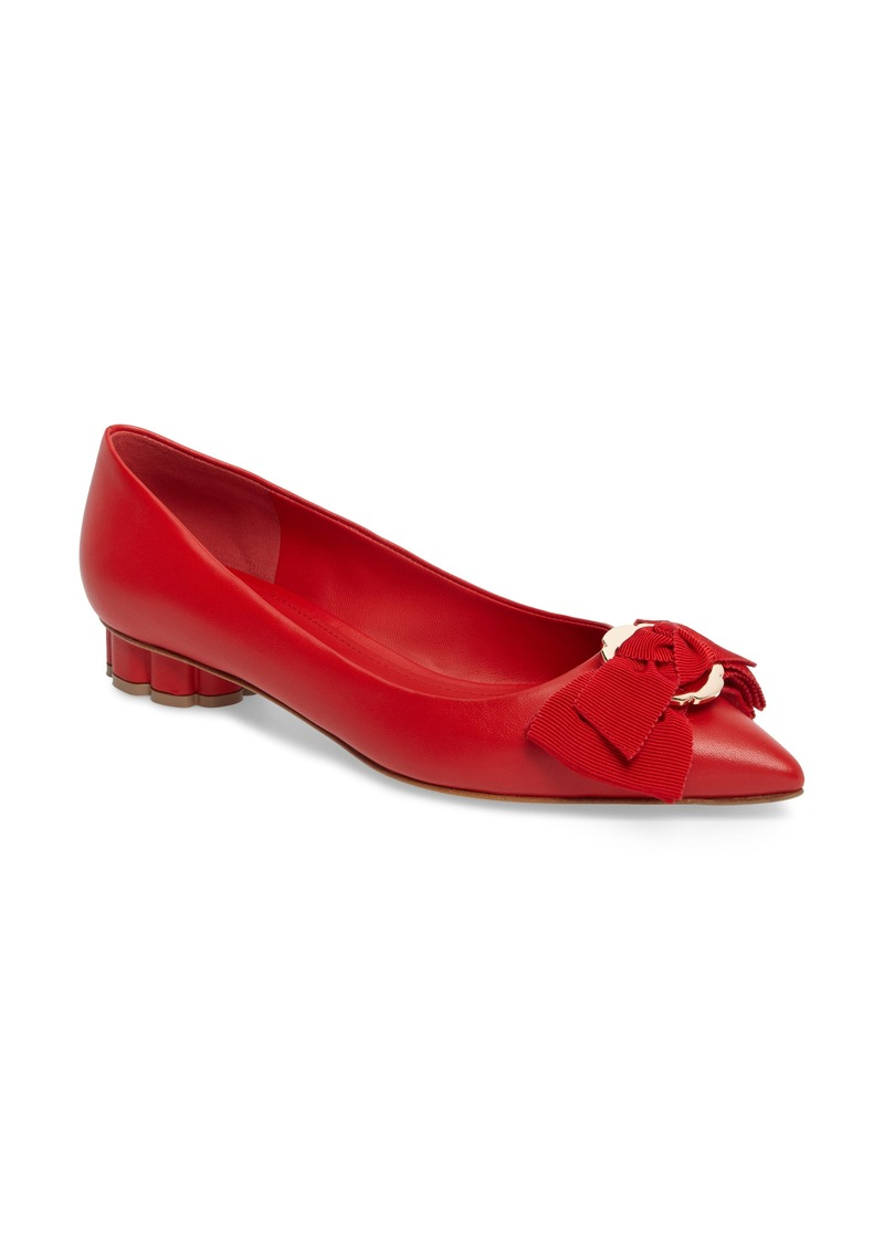 02efc98a55c SALE! Ferragamo Salvatore Ferragamo Talla Bow Pump (Women) - Shop It ...