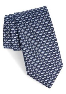 Salvatore Ferragamo Boxing Glove Print Silk Tie