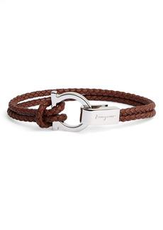 Salvatore Ferragamo Braided Leather Bracelet
