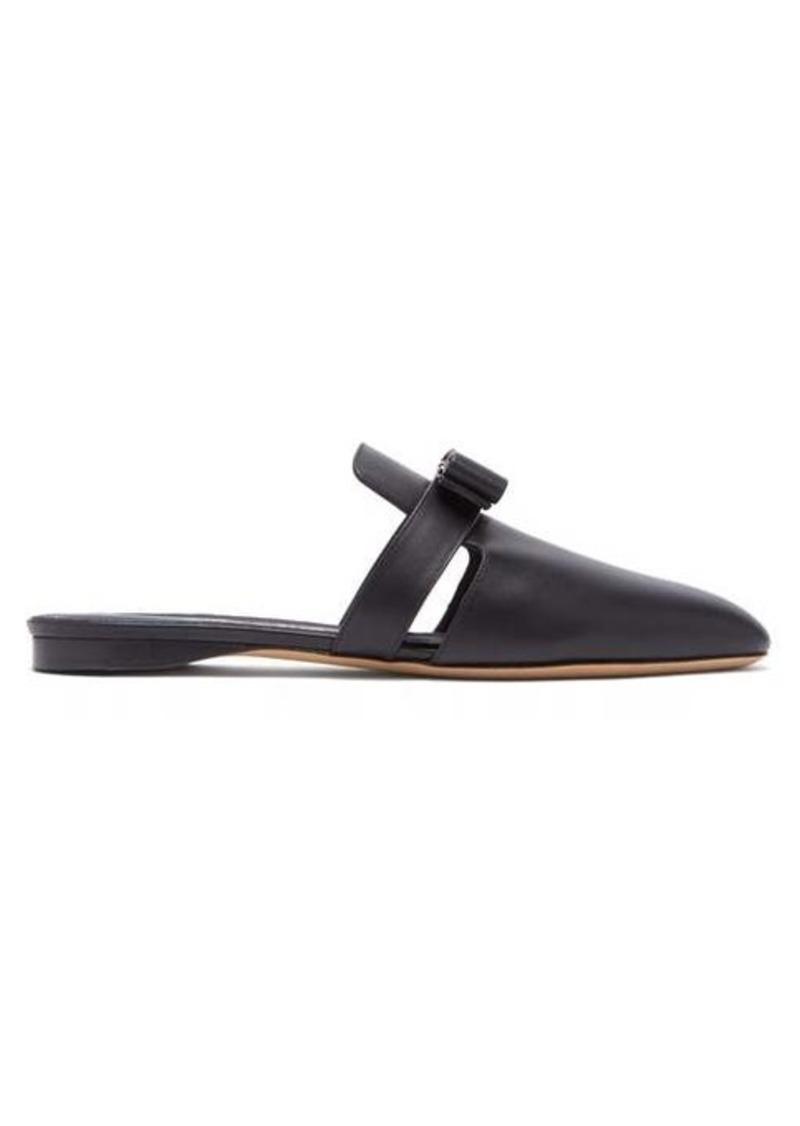 Salvatore Ferragamo Briza backless leather loafers