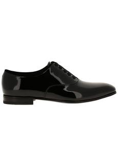 Salvatore Ferragamo Brogue Shoes Salvatore Ferragamo Belshaw Brogues In Classic Patent With Velvet Edges