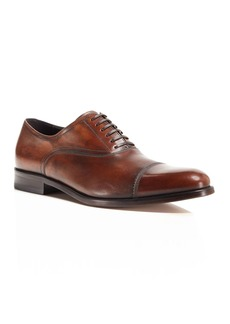 Salvatore Ferragamo Men's Guru Brushed Leather Cap Toe Oxfords
