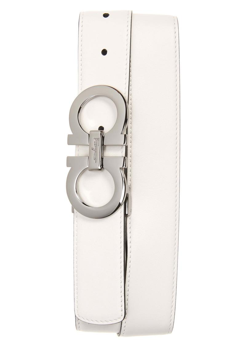 Salvatore Ferragamo Calfino Reversible Leather Belt