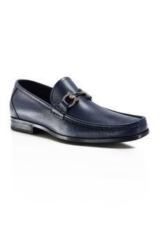 Salvatore Ferragamo Men's Grandioso Calfskin Leather Loafers with Double Gancini Bit - 100% Exclusive