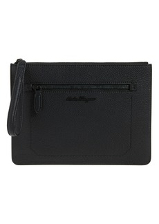 Salvatore Ferragamo Calfskin Leather Portfolio