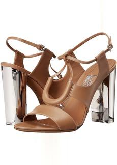 Salvatore Ferragamo Calfskin Sandal With Plexiglas Heel