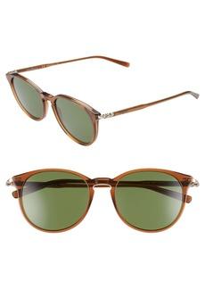 Salvatore Ferragamo Capsule 54mm Round Sunglasses