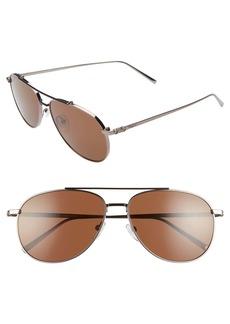 Salvatore Ferragamo Capsule 60mm Aviator Sunglasses