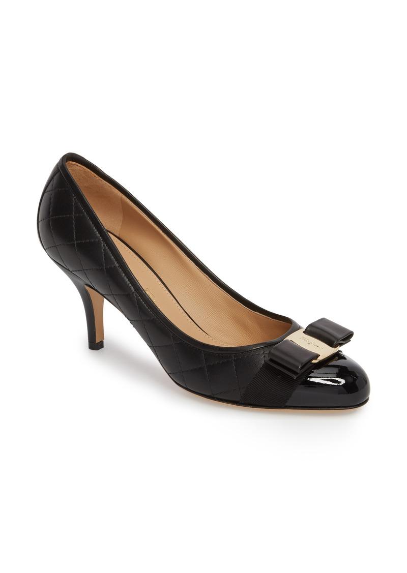 6126e88e53 Ferragamo Salvatore Ferragamo Carla Quilted Bow Pump (Women) | Shoes