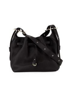 Salvatore Ferragamo Carla Small Pebbled Leather Bucket Bag