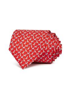 Salvatore Ferragamo Cats & Dogs Silk Classic Tie
