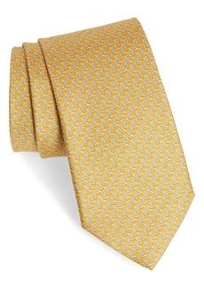 Salvatore Ferragamo Chameleon Print Silk Tie