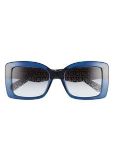 Salvatore Ferragamo Classic 54mm Gradient Rectangular Sunglasses