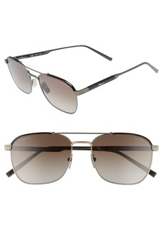 Salvatore Ferragamo Classic Logo 56mm Polarized Aviator Sunglasses
