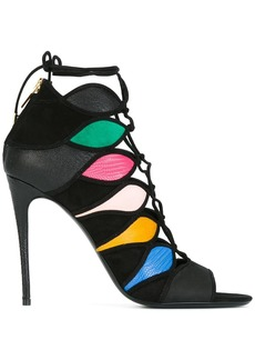 Salvatore Ferragamo colour block sandals - Black