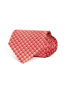 Salvatore Ferragamo Contrast Gancini Silk Classic Tie